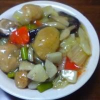 大豆ミート唐揚げの中華どんぶり
