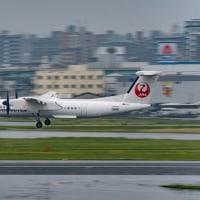 福岡遠征記#5 2日目、雨の送迎デッキより・・・2 (5月12日 福岡空港)
