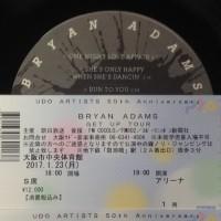 ブライアン・アダムス☆BRYAN・ADAMS  GET UP TOUR 大阪公演