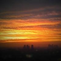 実家からの夕日