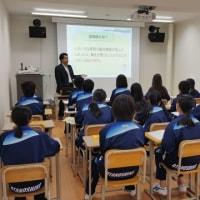 大楽毛中学校1年生と勉強です