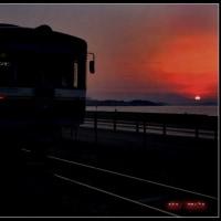 夜明けの秋鹿富士