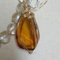 ラピスラズリ×水晶◆天然石ブレスレット