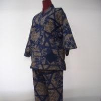 藍の浴衣から作務衣(柿渋染)