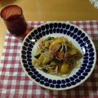夏野菜ソースのパスタ