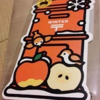 冬のポスト型はがき(りんご)