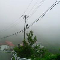 剣山は霧の中
