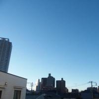 今朝(1月17日)の東京のお天気:晴れ、(1月の作品:祈願の坐像)