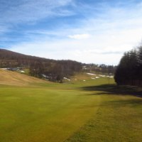 初冬のゴルフ場