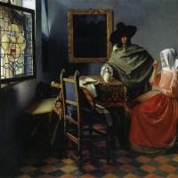 フェルメール(2)   「紳士とワインを飲む女」