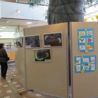 角田駅待合コーナー天体写真展