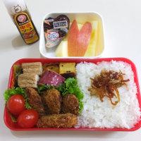 鮭フライと 作り置きおかずの お弁当