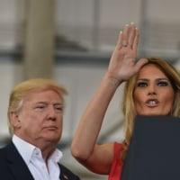 メラニア夫人、トランプ大統領の集会で異例の演説