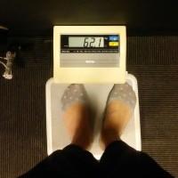 今日の体重62.1㎏