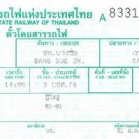 thai & Taiwan  railway tickets