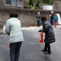白木地区全体消防訓練