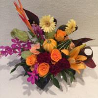 10月、静岡講師会はハロウィンのアレンジ。