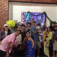 平塚 七夕祭り ハラウの前では、、