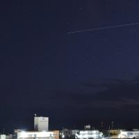 石垣島を通過するISS(国際宇宙ステーション)