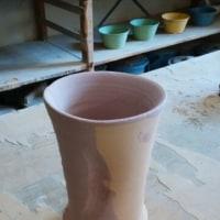 花器の施釉