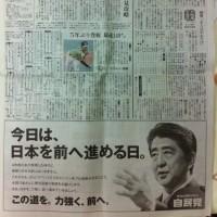 選挙運動が禁じられる投票日当日に法定外文書を新聞広告で頒布した政党の当選者は、当選無効(公選法251条)