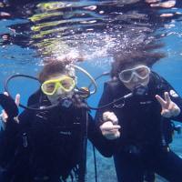 荒れる前に体験ダイビング