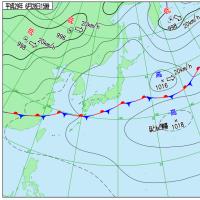 6月28日 アメダスと天気図。