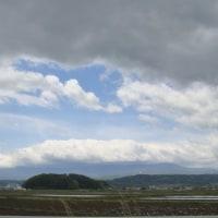 今日の八ヶ岳とUFO