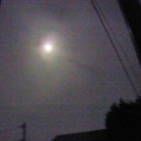 小雨の中の仲秋の名月