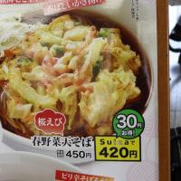 関東の小駅で食べるおそば