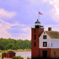 ラウンド島の灯台、「ある日どこかで」