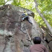 久々に登る岩