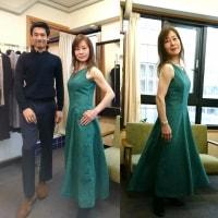 田中恵子 在廊日/ グリーントルマリン色のドレスを着てお待ちしています!
