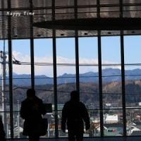 JR拝島駅から望む富士