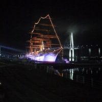 夜の海王丸パーク