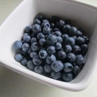ミニトマトとブルーベリー収穫