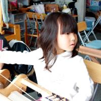 名古屋からお母さんと手織り体験に来ました