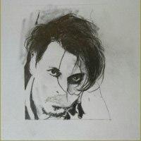 Dior  ジョニー鉛筆画