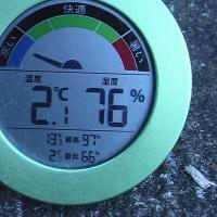 平成28年12月2日・今朝の東祖谷2.1℃