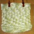 手編みのバッグが出来上がりました