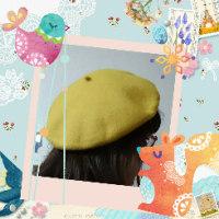 黄色いベレー帽(^ー^)