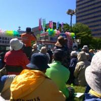 沢山集まりました、志位委員長が大通公園で街灯演説