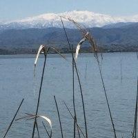 柴山潟から白山眺める