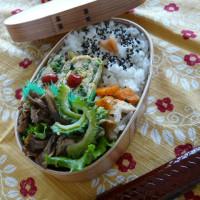 お弁当(豚肉&舞茸のバルサミコ醤油炒め)