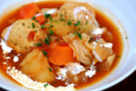 鶏団子とキャベツのトマトシチュー