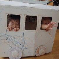 すみれ 一時保育 製作の日(電車)