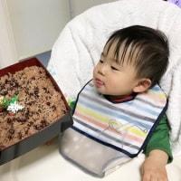 急遽☆孫ちゃんのお祝で赤飯炊きました☆