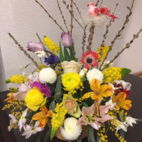 3月静岡講師会、イースターのアレンジ。