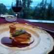 ホテルでワイン