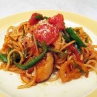 4月30日「生トマト入り具材一杯のスパゲッティナポリタン」